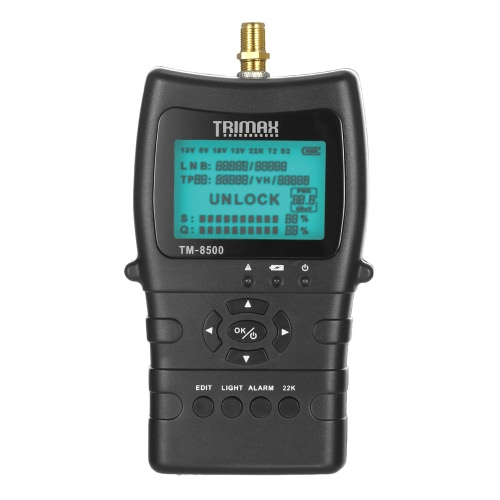 Buy TRIMAX TM-8500 Satellite Signal Finder Meter DVB-S/S2 HD Digital TV LCD Dispaly 1400mAh Battery EU Plug