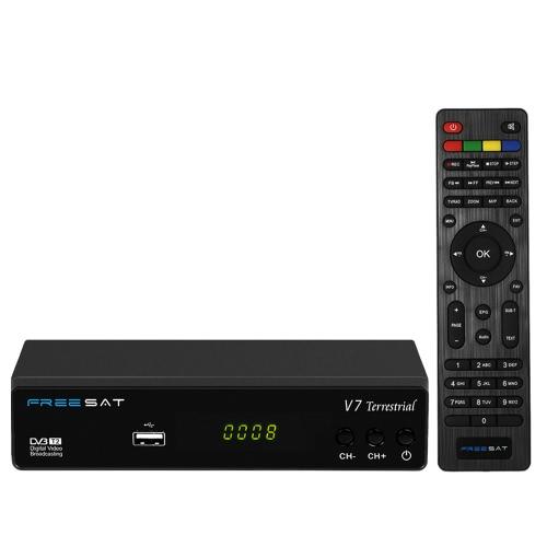 Buy FREESAT V7 Terrestrial DVB-T2 TV Receiver Digital Video Broadcasting Set-top Box Full HD 1080P Compatible / DVB-T HDTV US Plug
