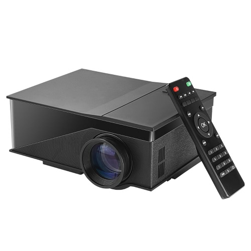 "PH400 1080P Full Color 100"" LED Projector 1200 Lumens 800 * 480 Pixel 1000:1 Contrast Ratio US Plug"