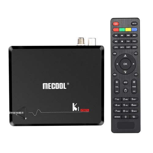 MECOOL KI PRO Android 7.1 TV BOX + DVB-S2 & DVB-T2 DVB C receiver EU Plug