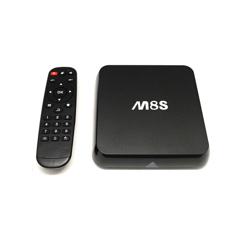 M8S Android 4.4 TV Box Amlogic S812 Quad Core Cortex-A9 2G / 8G XBMC DLNA Miracast Airplay H.264 / H.265 4K * 2K 5.0G / 2.4G 802.11a/b/g/n Bluetooth 4.0 Smart Media Player with Remote Controller от Tomtop.com INT