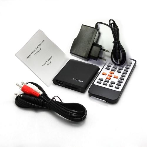 Buy Portable Mini Full 1080p HD Media Player MPEG / MKV/H.264/RMVB YPbPr AV USB2.0 Host SD Card Reader Slot IR Remote Control HDTV