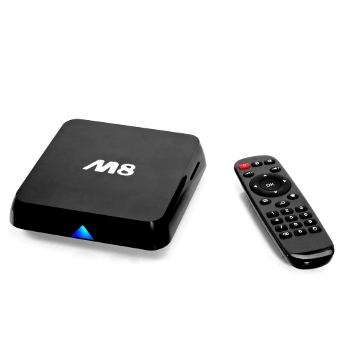 Buy M8 Android 4.4 TV Box Amlogic S802 Quad Core Cortex-A9 1G / 8G XBMC DLNA Miracast AirPlay 4K * 2K 5.0G 2.4G Dual Band Wi-Fi Bluetooth 4.0 Smart Media Player Remote Controller