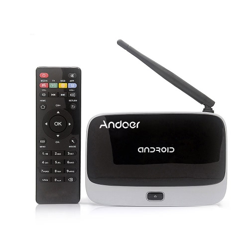 CS-918T 1080P Smart Android 4.4 TV Box Rockchip RK3128 Quad Core ARM Cortex A7 1.3 GHz 2G / 16G H.265 XBMC DLNA Miracast Airplay WiFi Bluetooth 4.0 OTG TF Card Slot External Antenna with Remote Controller от Tomtop.com INT