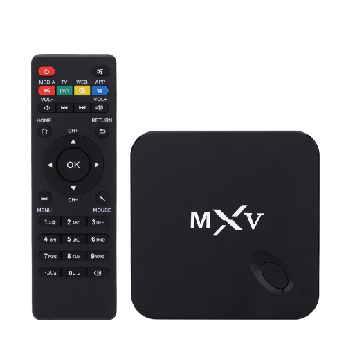 Buy 1080P MXV Smart Android 4.4 TV Box Amlogic S805 Quad Core 1.5 GHz 1G / 8G H.265 XBMC DLNA Miracast Airplay WiFi Bluetooth 4.0 TF Card Slot Remote Controller