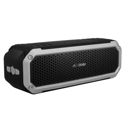 Andoer 10W Wireless Bluetooth 4.0 Outdoor Stereo Speaker Soundbox Speakerphone Mic Hands-free Aux LED Torch Flashlight Travel Riding Cycling Portable