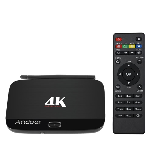 Andoer F7 Android 5.1 TV Box RK3229 Quad-Core 1G / 8G US Plug от Tomtop.com INT