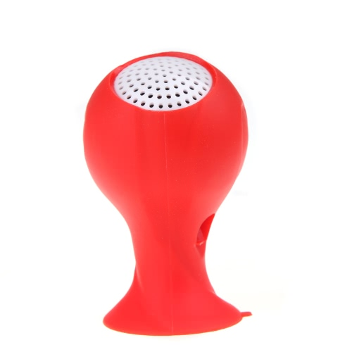Brazil 2014 World Cup Football Speakers Portable with Silicone Sucker Holder Red