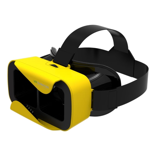 VR shinecon3.0 Xiao Cang Virtual Reality Glasses 3D VR Box Headset 3D Movie Game Glasses Head-Mounted for 4.7 to 6.0 Inches Android iOS Smart Phones Yellow