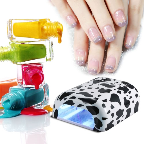 Buy 36Watt EU Plug Nail Art Salon Gel Curing UV Lamp Polish Dryer Acrylic Timer Light Blower Tools Pedicure Manicure Painting