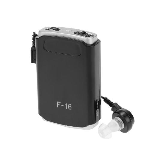 AXON F-16 Pocket Hearing Aid Mini Ear Sound Amplifier Deaf Aid 3 Different Size Earplugs Volume Adjustable Audiphone Hearing-impaired MINI Loudspeaker