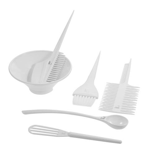 Buy Salon Hair Coloring Dyeing Kit Brush Comb Bowl White Tint Mixing Tool DIY Colouring Set