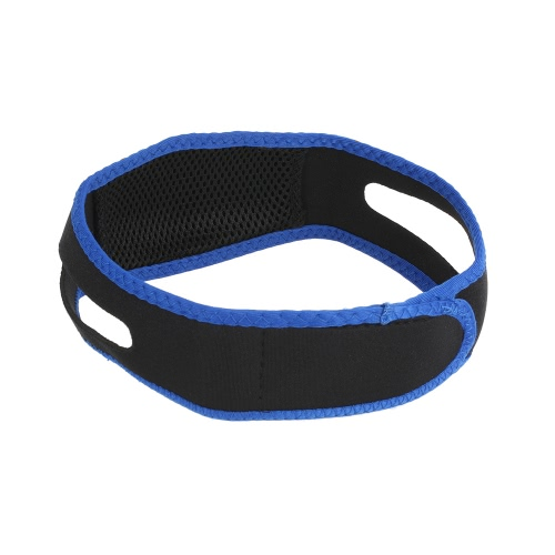 1pc Chin Strap Stop Snore Belt Chin Support Jaw Strap Snoring Sleep Aid Unisex Chin Anti Dislocation Holder Black