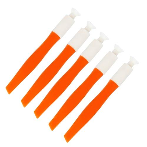 5Pcs Dual-ended False Nail Tips Suction Cup Stick Apply Remove Suck Up Nail Tips Portable Nail Art Tool