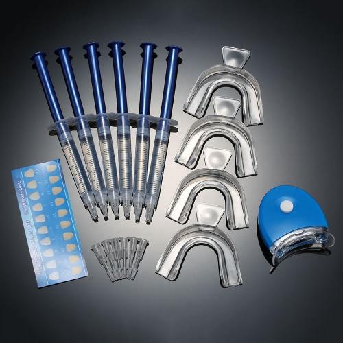 12pcs Tooth Whitener Dental Bleaching Dental Teeth Whitening Trays Care Whitening Gel 44% Peroxide Dental Equipment Home Kit Teeth Tools