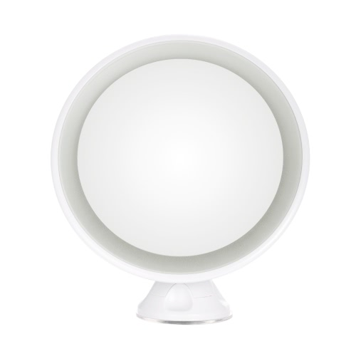 LED Makeup Mirror Rotatable Vanity Mirror Suction Cup 7X Magnifying Cosmetic Mirror USB Charge Single Side