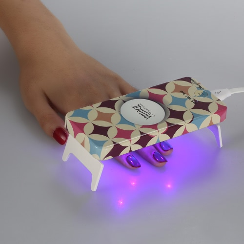 Mini LED UV Lamp 9W Professional Manicure Foldaway Personal Nail Dryer Gel Curing LED Light Timer 30s 60s 90s With USB Line Activate Hand Skin от Tomtop.com INT