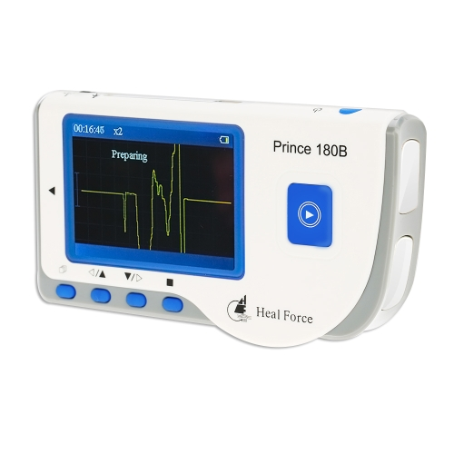 Buy Prince 180B Heal Force Easy ECG Monitor Professional Monitoring Machine Portable Handheld LCD Heart Health USB Continuous Measuring Function