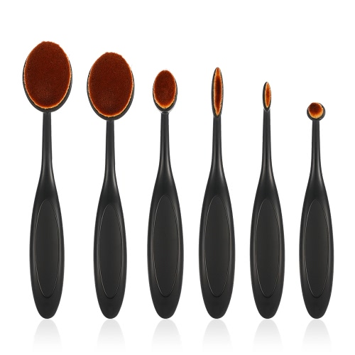 Buy Oval Makeup Brush Set Soft Foundation Cosmetic Toothbrush Brushes Contour Concealer Kits Tool