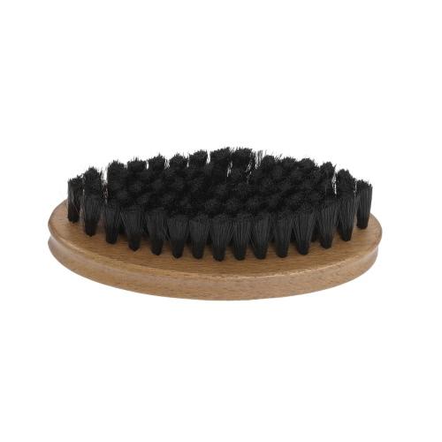Buy Pocket Beard Brush Small Mustache Shaving Soft Fiber Hair Beech Oval Handle Facial