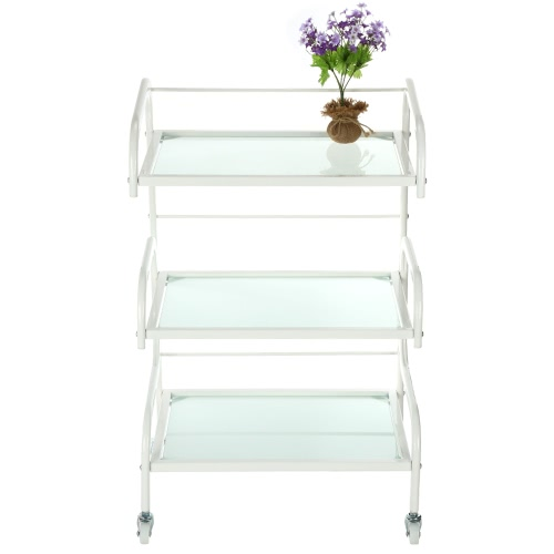 Buy Hair Drawers Glass Salon Trolley Rolling Cart Storage Colouring Barber Hairdressing
