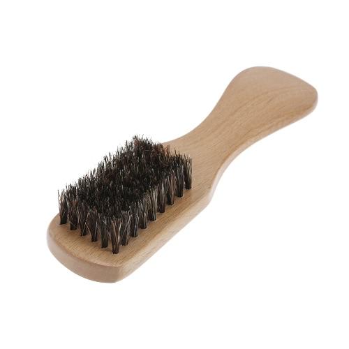 Men's Beard Brush Boar Bristle Mustache Shaving Comb Brush Facial Hair Brush Beech Long Handle