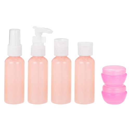 Buy 9pcs/set Mini Plastic Spray Bottle Outdoor Travel Small Empty Makeup Bottles Skin Care Lotion Case Container