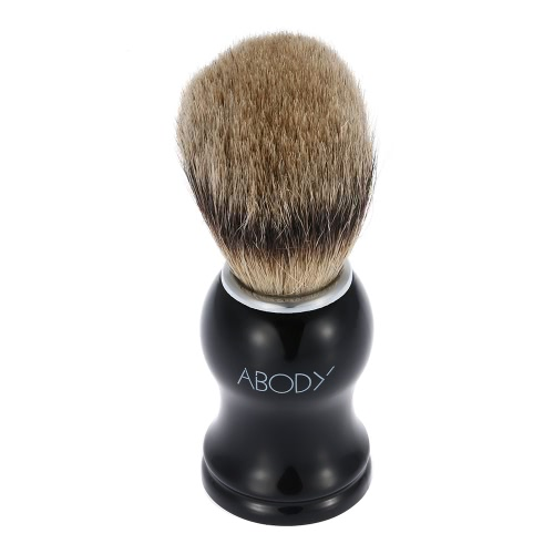 Abody Men's Blaireau Shaving Brush Male Hair Brush for Beard Cleaning Shave Facial Razor Brush with Plastic Handle Face Cleaning Tool for Barber Salon