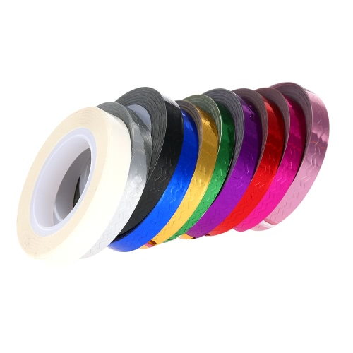 Buy 1Mixed Colors Nail Art Foil Sticker Rolls Striping Tape Lace Line DIY Styling Tips Decoration Fashion Designs