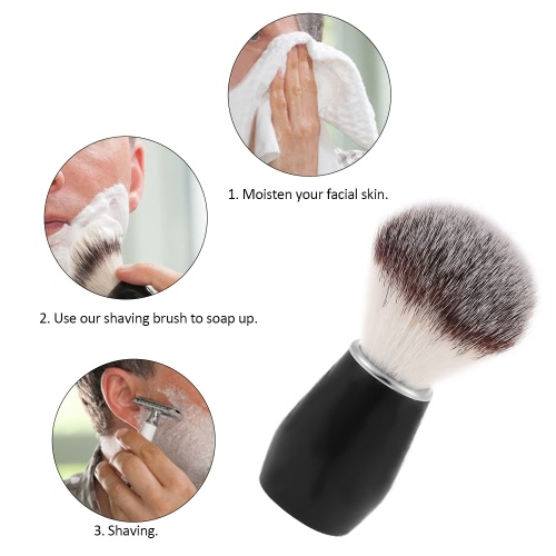 Shaving Brush Men Nylon Razor Shaving Brush Wood Handle Male Facial Shaving Tool Shaving Cleaning Tool for Barber