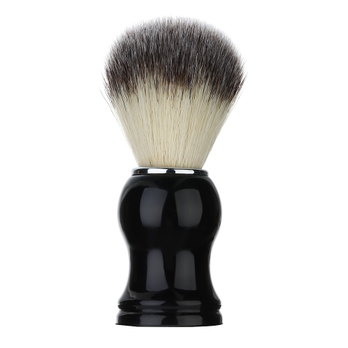 1pc Nylon Shaving Mustache Brush Men Safety Barber Razor Brush Black Handle Male Shaving Gift Set Beard Cleaning Tool Facial Care Tool
