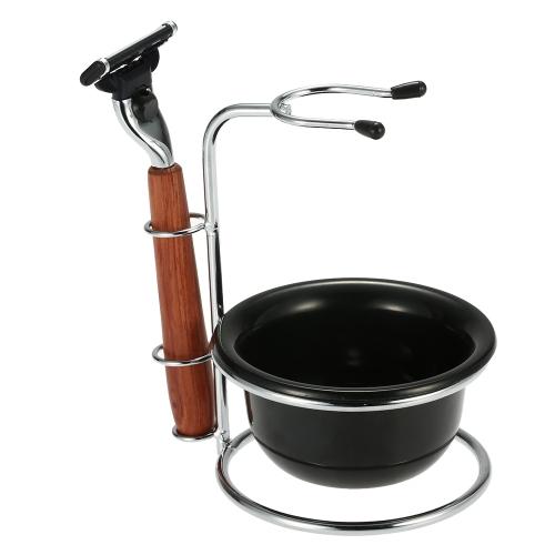 Buy 3 1 Shaving Razor Set Male Facial Clean Tools Beard Kit Men's Brush Holder Soap Dish Bowl Dry Wet