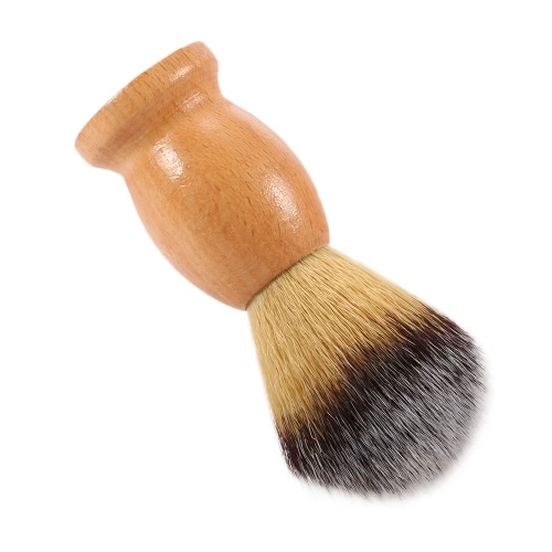 Men's Nylon Shaving Brush Wood Handle Facial Shaving Tool Shaving Brush for Razor Male Face Cleaning Brush