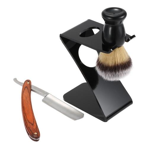 3 In 1 Men's Shaving Razor Set Badger Hair Shaving Brush Folding Shaving Razor Holder Male Facial Clean Tools Shaving Kit Blaireau Brush
