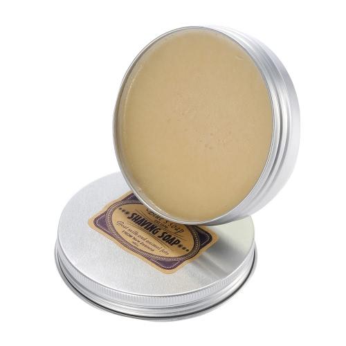Male Shaving Soap for Beard Cleaning Goat Milk Shaving Soap with Aluminium Bowl for Facial Razor Smooth Shaving Helper