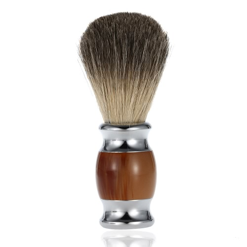 Professional Pure Badger Hair Shaving Brush Wooden Handle Barber Salon Men Facial Beard Cleaning Appliance Shave Tool Shaving Razor Brush