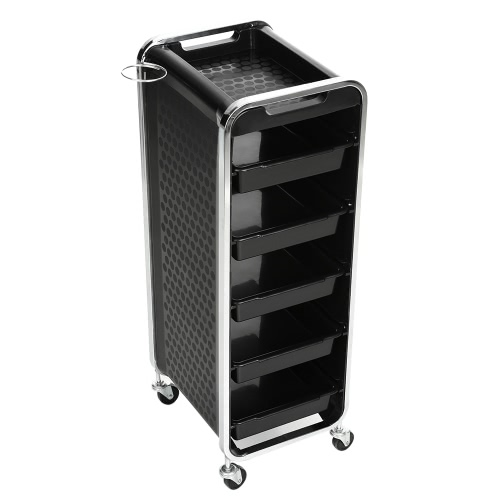 Buy Iron Trolley Cart Rolling Drawers Black Hairdressing Hair Storage Salon Barber Tool