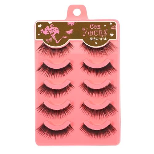 Buy 5 Pairs Upper Eyelashes False Eyelash Hand-made Natural Soft Fake LashesThick & Long Women Eye Lashes Makeup Tool