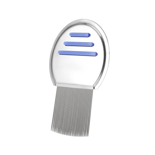 Stainless Steel Lice Comb Nit Free Terminator Pet Dog Cat Louse Flea Remove Round Non-slip Handle