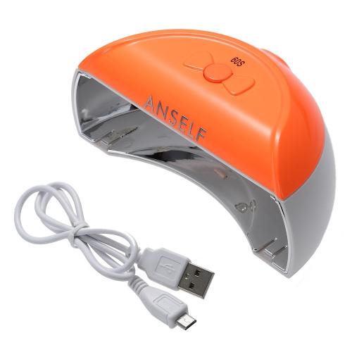 Buy Anself Mini Rechargable 110-240V 9W LED Nail Dryer Lamp Curing Machine USB Portable Art Polish Gel Salon Tool Rose