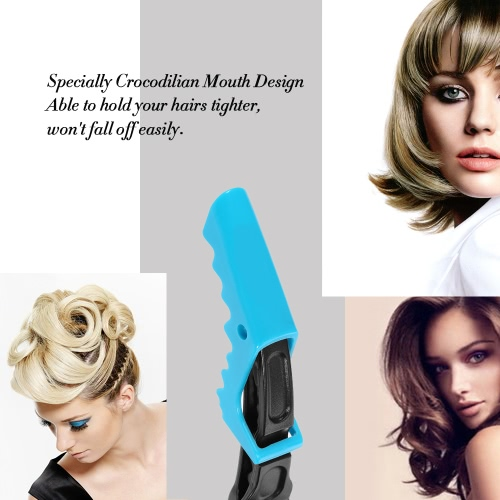 10Pcs Hair Sectioning Grip Clips Croc Hairdressing Cutting Clamps Hair Grip Clips Salon Styling Blue