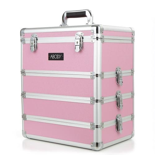Buy Abody Cosmetic Train Box Makeup Storage Case Artists 4 1 Lockable Extendable Aluminum Organizer Pink