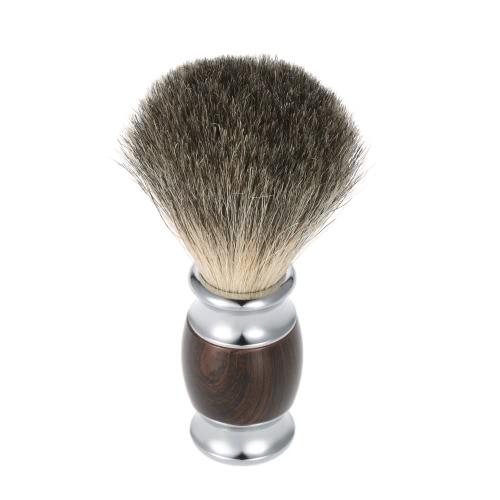 Buy Men's Shaving Set Blaireau Brush + Razor 2 1 Badger Hair Tool Dry & Wet Box Dark Brown
