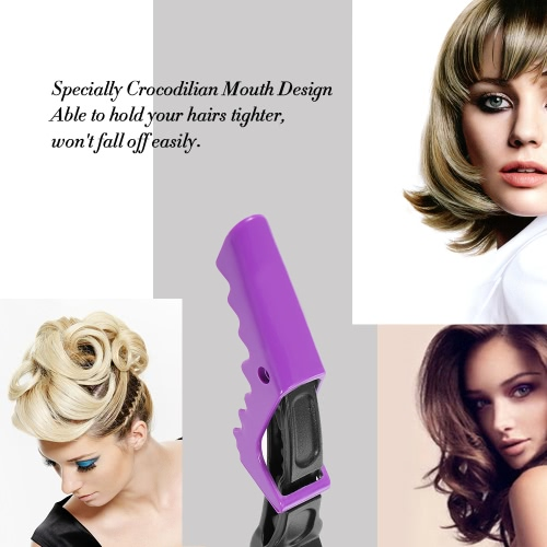 Hair Sectioning Grip Clips Croc Hairdressing Cutting Clamps Hair Grip Clips Salon Styling 10Pcs Purple