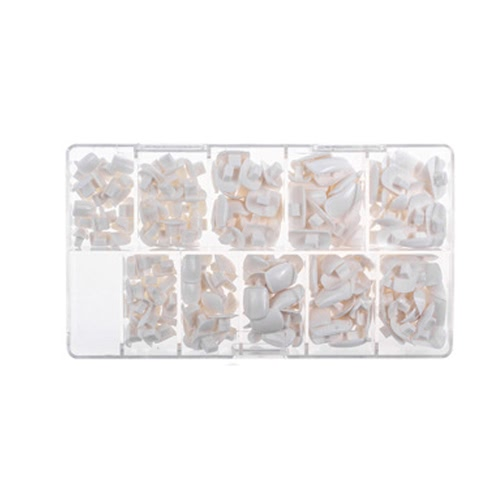 Buy 200pcs/pack 10 Sizes False Fake Nails Tips Box Flexible Practice Model Training Hand DIY Art Salon