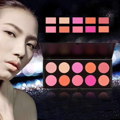 Anself Professional 10 Color Women Cosmetic Makeup Warm Color Glittering Matte Combine Eyeshadow