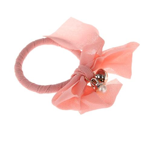 Buy Elegant Chiffon Elastic Hairband Pearl Bowknot Hair Ring Headband Women Jewelry Decoration
