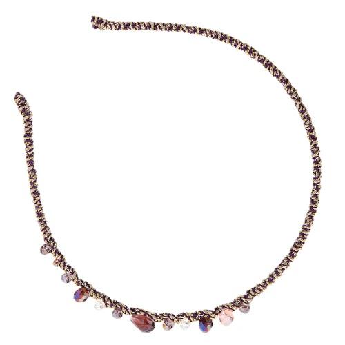 Buy Fashionable Bling Colorful Elastic Headband Women Retro Hair Band Rhinestone Crystal Decoration Accessories