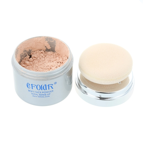 Buy 2 in1 Bare Makeup Loose Mineral Powder Sponge Puff Smooth Oil-control Whitening Repair Natural Cover Pure Minerals Foundation Concealer
