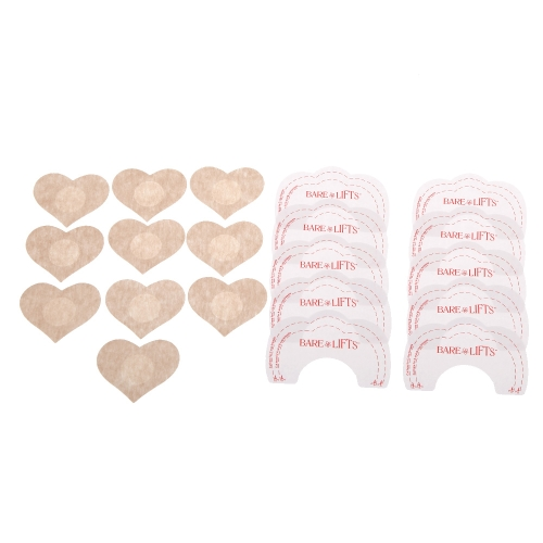 20Pcs/lot Instant Lift + Nipple Cover Lift Up Instant Breast Lift Beauty Breast Stickers Adhesive Bras Bra Stickers Lift